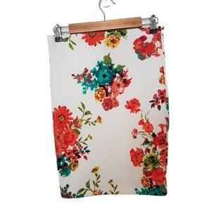 2/$20 - Quilted Floral Pencil Skirt